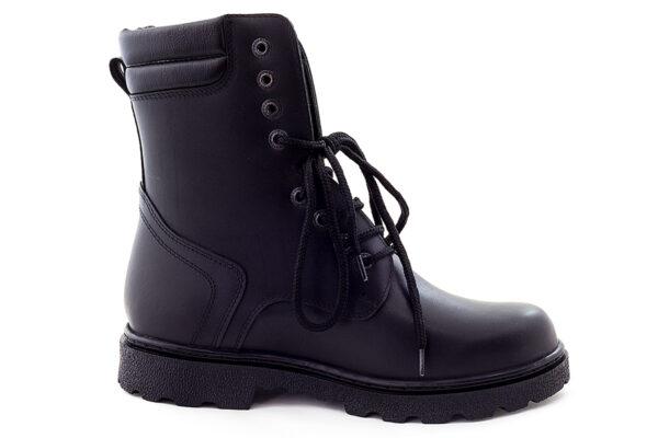 Bocanci din piele naturala culoare negru, pentru barbati | Lucas Shoes