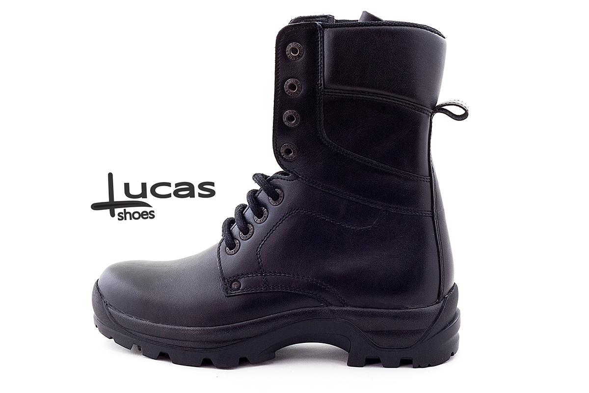 350 Bocanci din piele naturala Lucas Shoes culoare negru